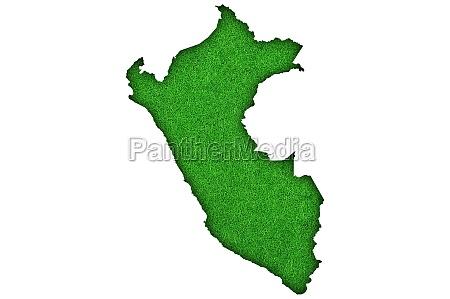 map of peru on green felt