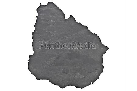 map of uruguay on dark slate
