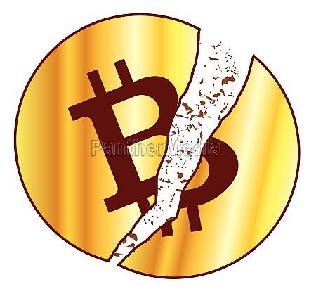 bitcoin digital value symbol