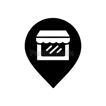 supermarket store front pin map glyph
