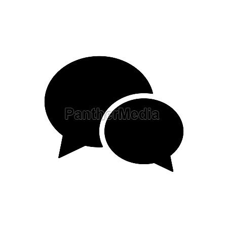 chat speech vector flat glyph icon