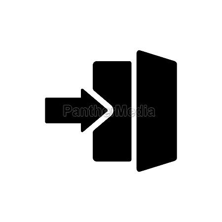 login glyph icon in trendy flat