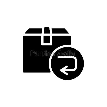 return purchase vector flat glyph icon