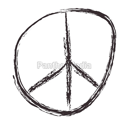 typical peace sign