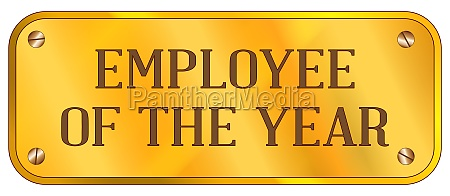 employee of the year brass plaque