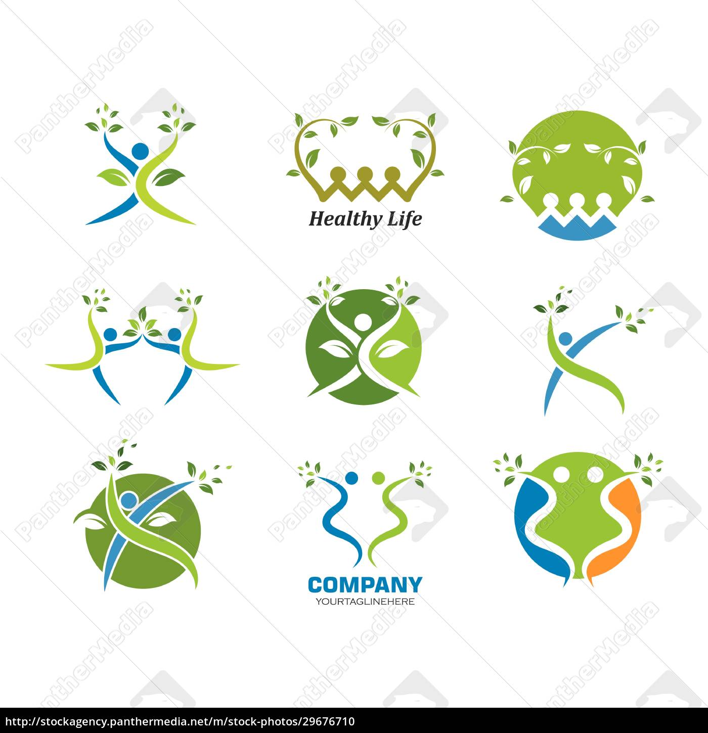 healthy, life, people, , logo, template - 29676710