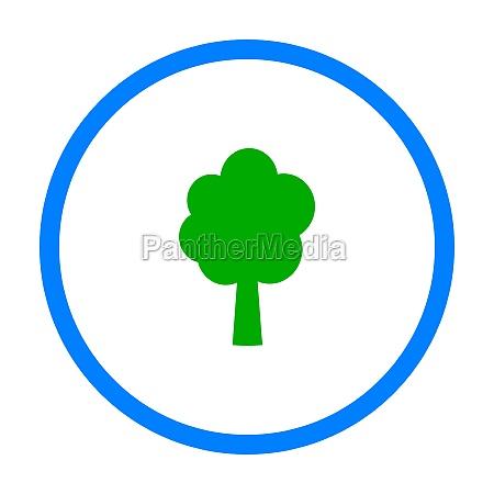 tree and circle