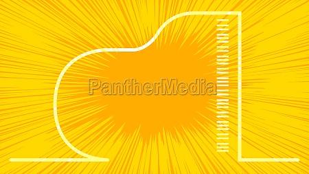 yellow splash grand piano