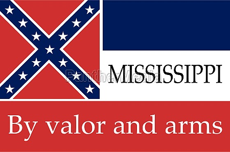 mississippi state flag with motto