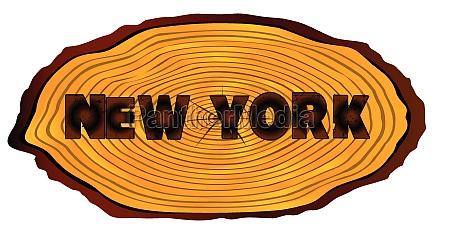 new york log sign