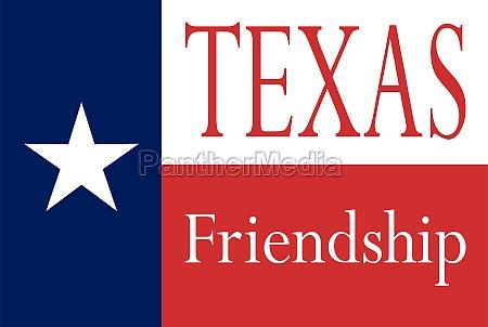 texas state friendship flag