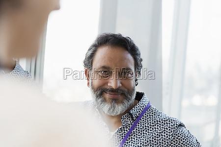 portrait smiling businessman