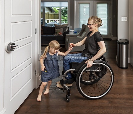 a paraplegic mother dancing with her