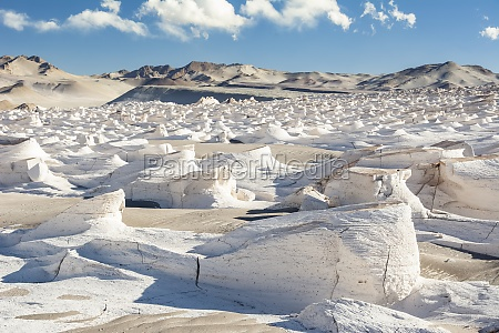 huge white pumice field glitters in