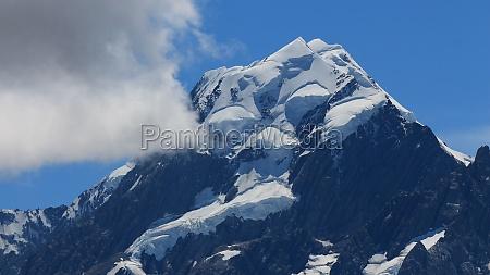 glacier on top of mount cook