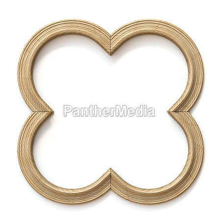 wooden cross shaped picture frame 3d