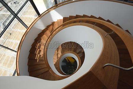 spiral stairs and staircase in a
