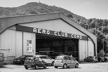 hangar of the aero club