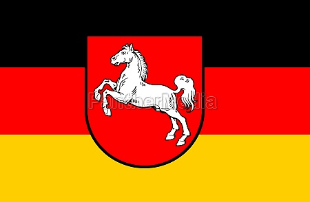 flag of lower saxony germany