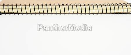 open spiral notebook with blank white