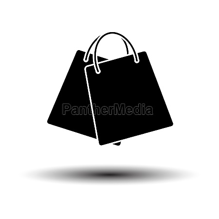 two shopping bags icon