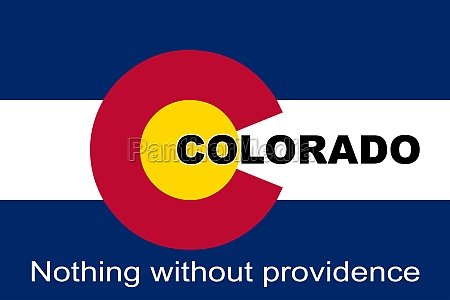 colorado state motto flag