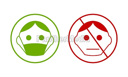 green smiley with protection breathing mask