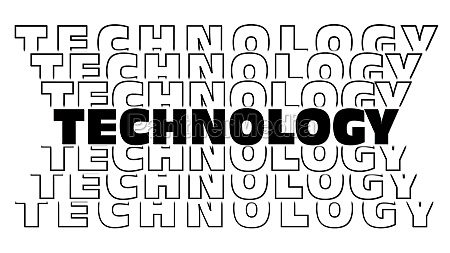 technology black lettering with repeating