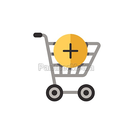 shopping cart add product flat color