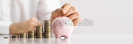 save money in piggybank inflation