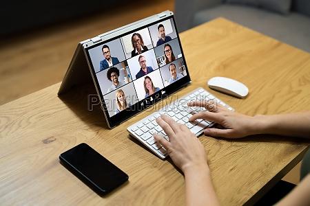 digital online video conference webinar