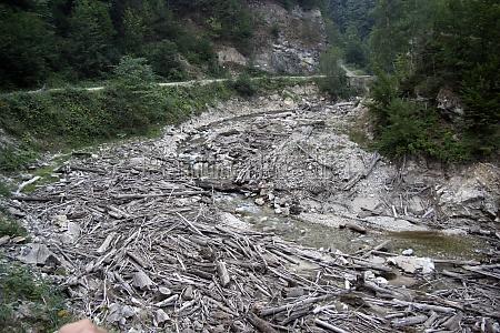 erosion and debris jamming flooding