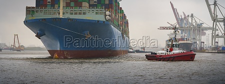 cargo ship in the harbor of
