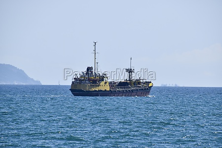 ships on the horizon of the