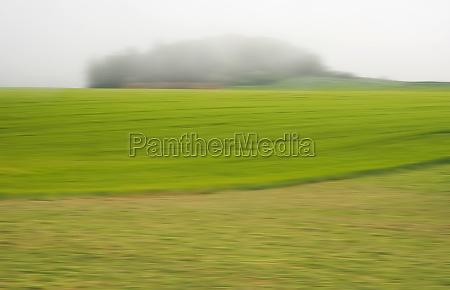 hill blurred fog