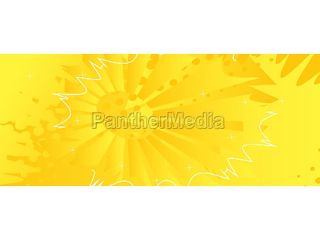 yellow comic book style background