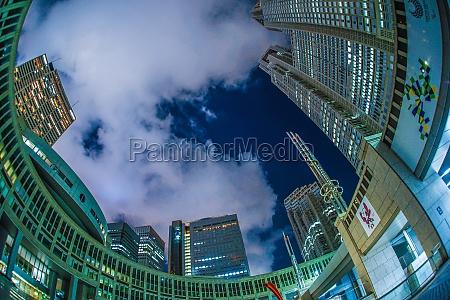 tokyo metropolitan government of night view