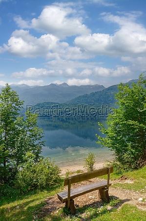 lake bohinj in triglav national park