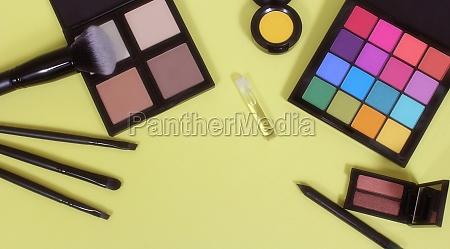 cosmetics on paper background