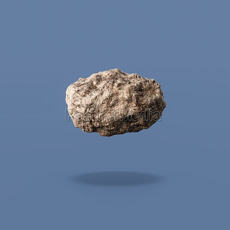 asteroid isolated on blue background