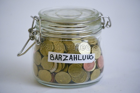 cash payment with euro coins