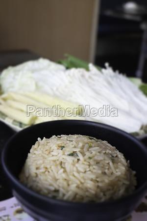 ingredient of homemade sukiyaki set