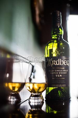 ardbeg single malt whisky bottle and
