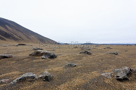 central iceland landscape along the road