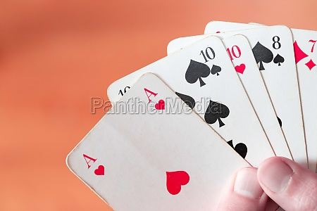 playing cards poker cards in the