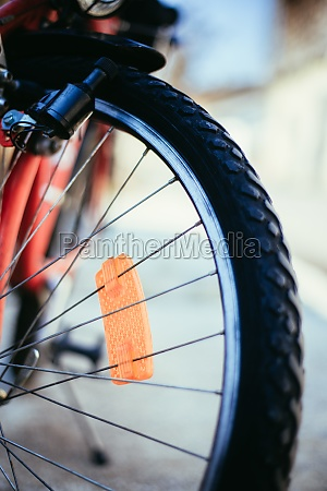 mountain bike tyres outside summer day