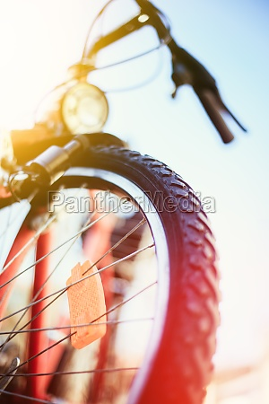 close up of mountain bike tyres