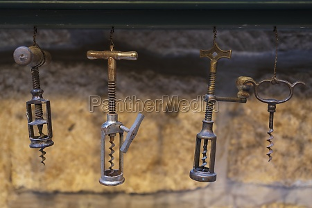 collection of old corkscrew in eger