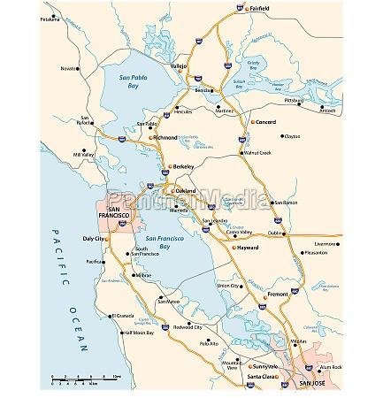 vector road map of californias san