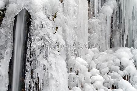 a frozen waterfall in berchtesgaden